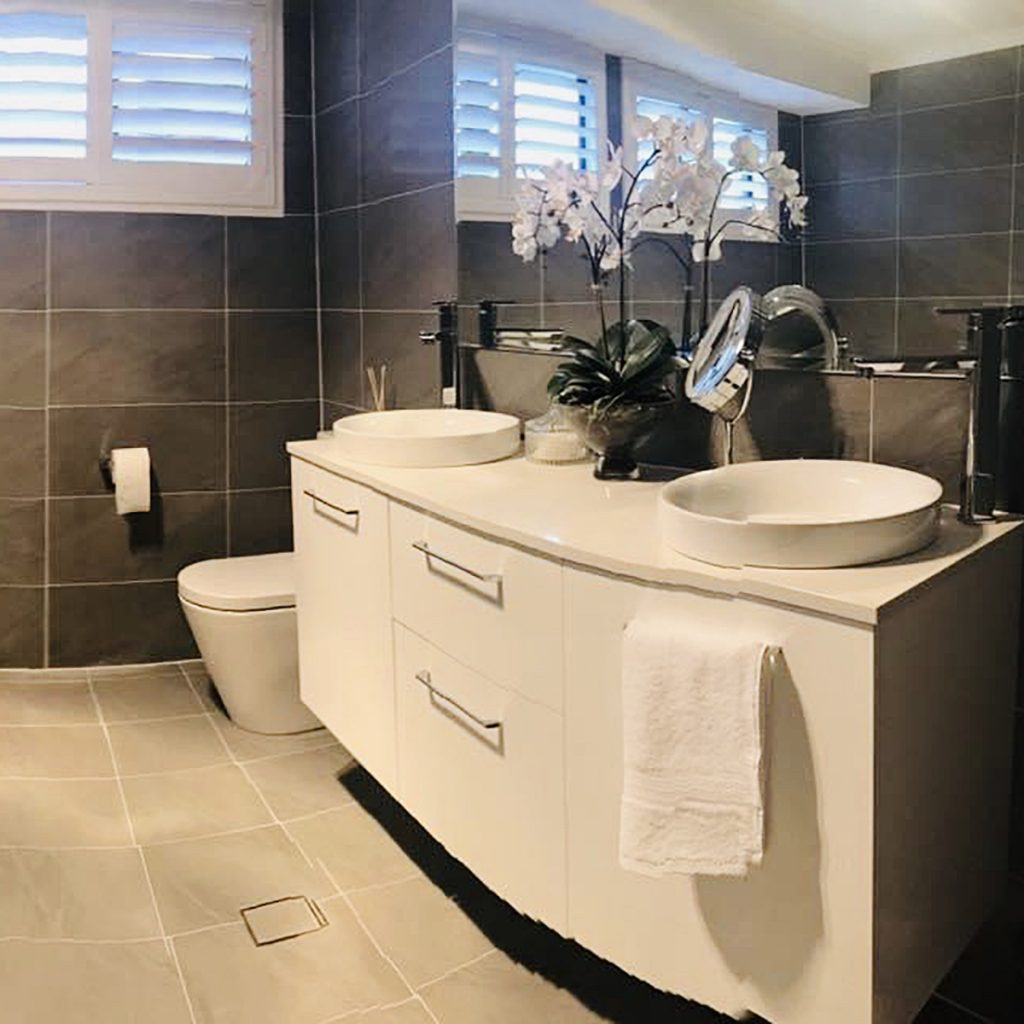 Our Projects - Main Bathroom Moorebank Vanity & Toilet